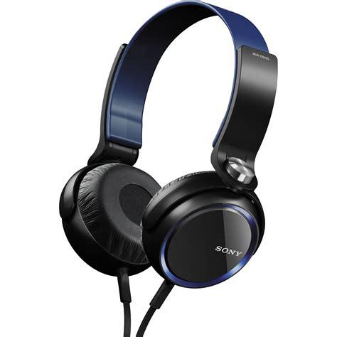 Headphone Sony Bass Biru sony xb series bass headphones blue mdrxb400 b h