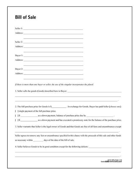 adams bill  sale forms  instructions