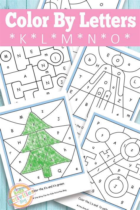 color by letter color by letters k l m n o free printable