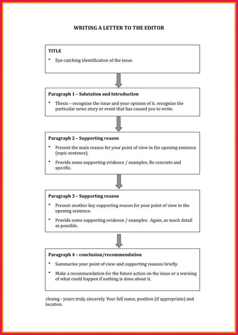 letter   editor format sop examples
