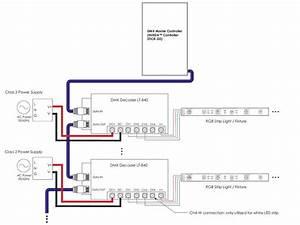 Led Color Decoder Lt-840 Dmx Zone Controller