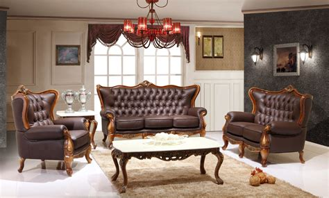 Leather Victorian Living Room 995