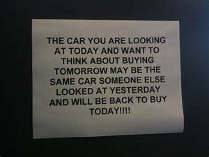 Sleazy car sale... Auto Purchase Quotes