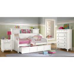Bookcase Captains Bed With Trundle by Seaside White Ii Bookcase Daybed With Trundle Value City