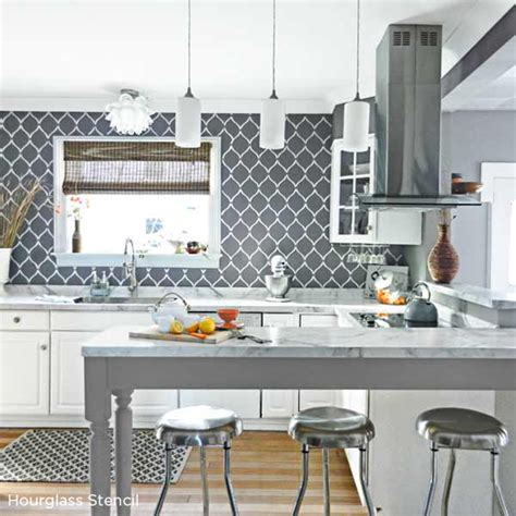 paint kitchen tiles backsplash benjamin starts a trend with stenciled kitchen 3946