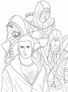 Jogo Desenhos Para Colorir Do Assassins Creed No Jogos