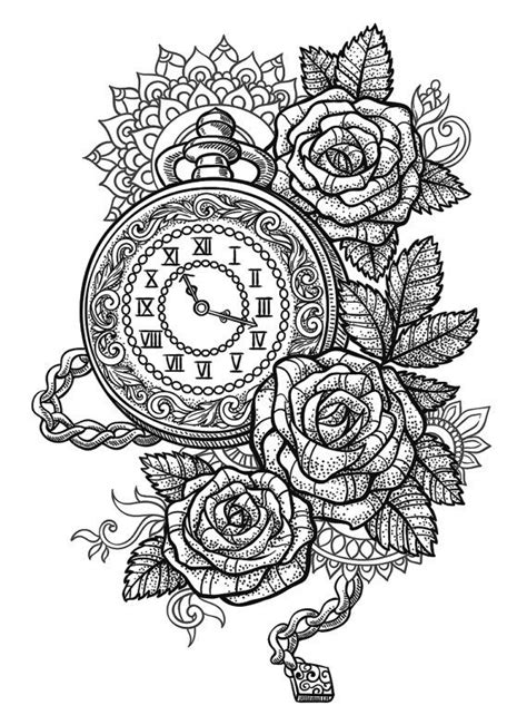 sets pocket  roses  mandala temporary tattoos