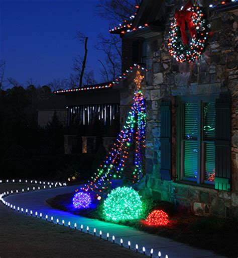 diy flagpole christmas tree lights megatrees of lights