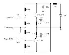 pre amp schematic audio stereo line driver simple With audio line driver