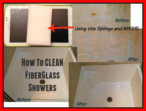 how to clean fiberglass shower and bathtubs in one step