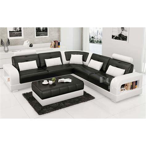 amazon canapé d angle canapé d 39 angle design en cuir pleine fleur salerno xl