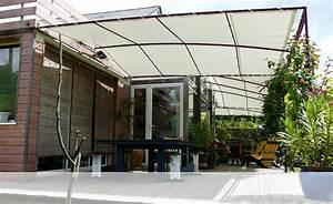 bache coulissante pour pergola finest tonnelle barnum With toile tendue exterieur terrasse 8 mat inox pour toile tendue sur mesure