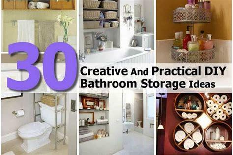 Diy Bathroom Storage Ideas by 30 Creative And Practical Diy Bathroom Storage Ideas