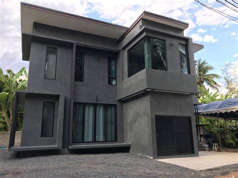 แบบบ้าน 2 ชั้นโมเดิร์นลอฟท์ Loft Style ผนังปูนเปลือยสีอม