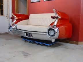 kã hlschrank retro design cool couches with retro classic car furniture of 1959 cadilac car back design popular