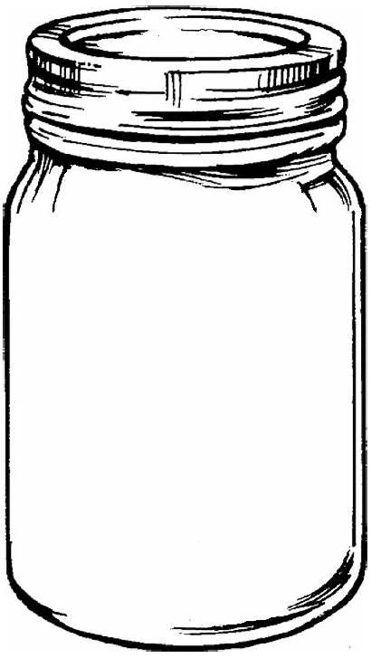 Mason Jars Desktop Clipart Clipartbest Jar Coloring