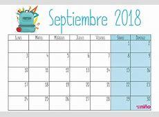 Septiembre Calendario escolar 20182019 para imprimir