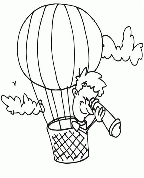hot air balloon template printable coloring home