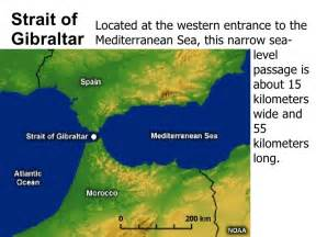 Straits of Gibraltar Map Strait of Gibraltar Located at  Gibraltar