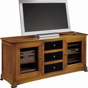 Meuble Hifi Bois : meuble tv hifi merisier pas cher ~ Voncanada.com Idées de Décoration