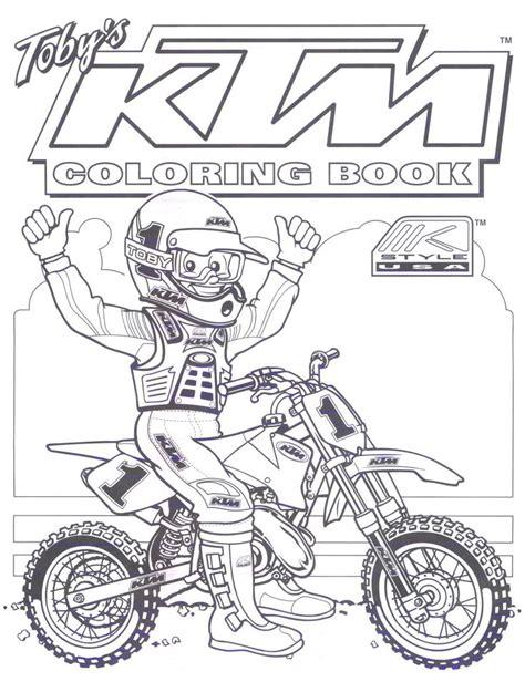 ktm dirt bike coloring pages blake
