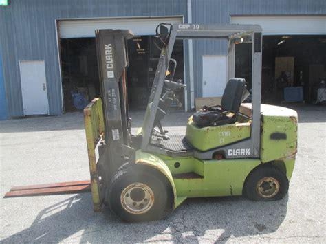 clark cdp dual wheel lbs diesel forklift side shift pneumatic tires