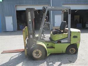 Clark Cdp30 Dual Wheel 6000lbs Diesel Forklift Side Shift Pneumatic Tires