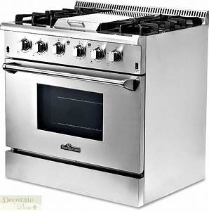 "THOR KITCHEN GAS RANGE 36"" Free-Standing 4 Burners Griddle ..."