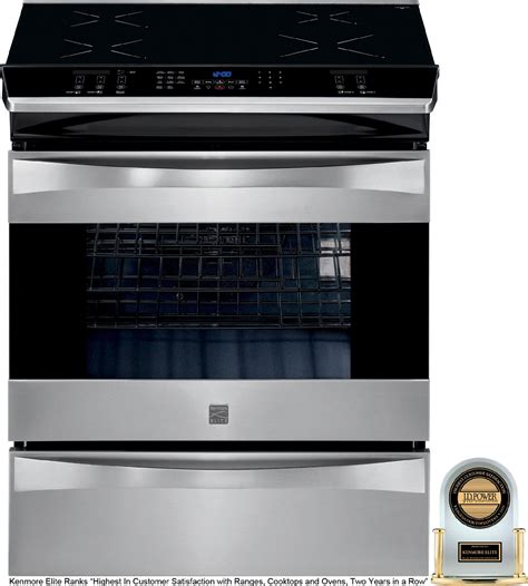 kenmore elite     induction range stainless steel