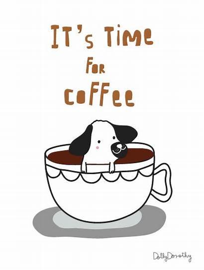 Dog Coffee Break Animated Take Relax Gifs