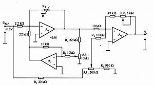 Temperature  Voltage Conversion Circuit Of Thermistor
