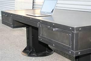 Combine 9 Industrial Furniture – Industrial desk with