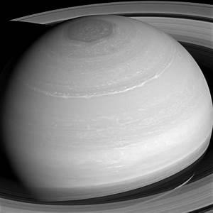 """Cassini Spacecraft Views """"Painted"""" Saturn"""