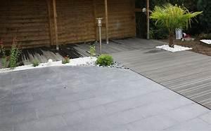 Revetement Sol Exterieur Composite : terrasse bois et carrelage ~ Edinachiropracticcenter.com Idées de Décoration