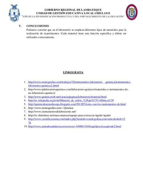 informe reconocimiento  uso de material  equipo de