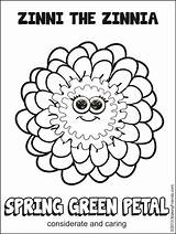 Scout Petal Daisy Spring Coloring Flower Pages Makingfriends Friends Sheet sketch template