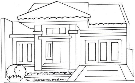 Gambar Rumah Mewah Untuk Mewarnai 10 Gambar Mewarnai Rumah Contoh