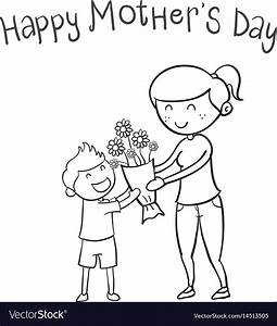Happy mother day hand draw Royalty Free Vector Image