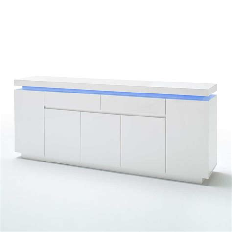 sideboard mit led sideboard coozia mit led beleuchtung 200 cm pharao24 de