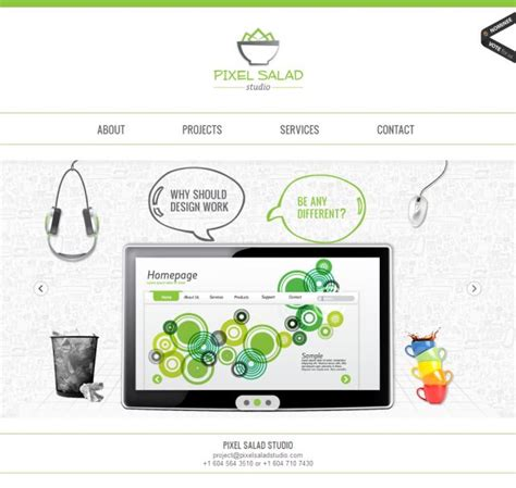 pixel salad studio web design css showcase gallery