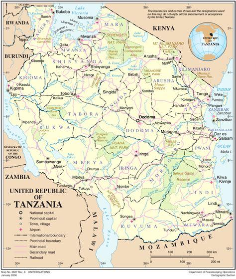landkarte tansania uebersichtskarte weltkartecom