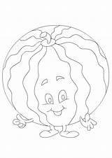 Coloring Watermelon Pages Printable Sheet Turtlediary Games Vegetables Preschool Sheets Preschoolers Educational sketch template