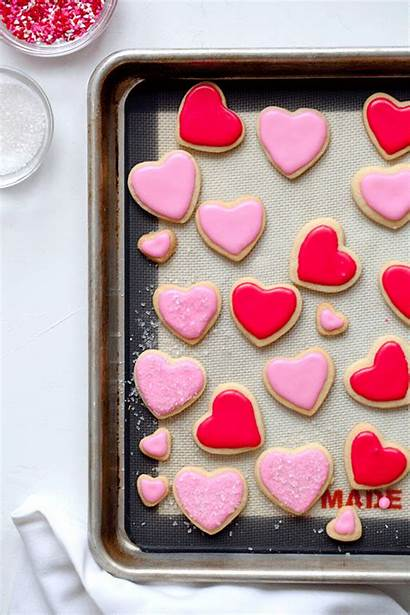 Sugar Cookies Powdered Valentine Recipes Icing Cookie