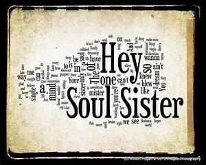 Hey Soul Sister Train Word Art Via Etsy Sisters