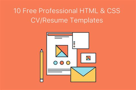 Free Resume Templates Html Css by 10 Free Professional Html Css Cv Resume Templates