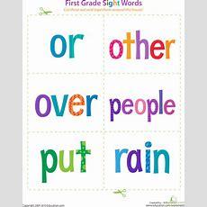 Printable 1st Grade Sight Word Flashcards Educationcom