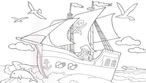 Malmichaus Ausmalbild, Malvorlage Piratenschiff 1