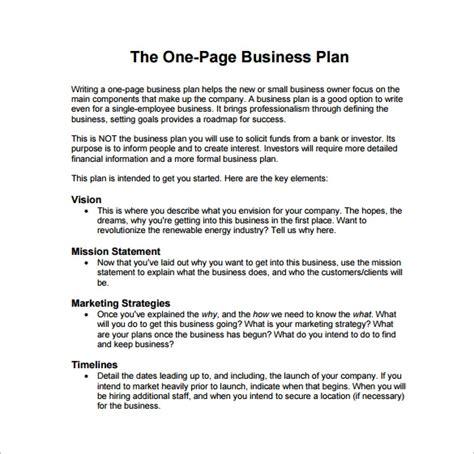 business plan templates sample word google docs