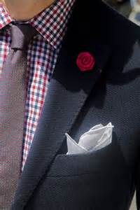 Red Lapel Pin Tie and Pocket Square