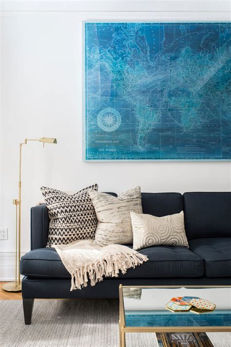 Navy Sofa Living Room by Photo Page Hgtv